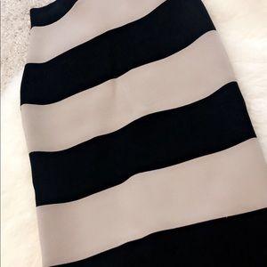Black and Tan stripped bandage skirt